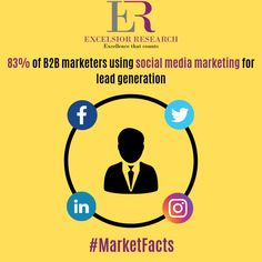 More than half B2B marketers are using social media for lead generation. #marketfacts #excelsiorresearch #b2b #b2bmarketing #b2bleadgeneration #b2bmarketers #b2bsales #socialmedia #socialmediamarketing