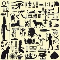 egyptian symbol stencils | Egyptian symbols for kids