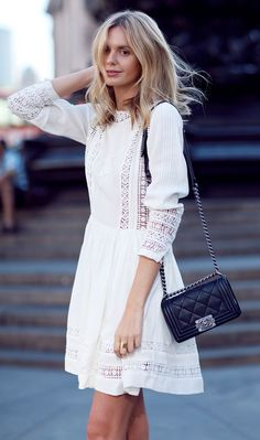 Embroidery white dress White Summer Dresses 89fd14df1