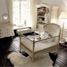 Modern Spaces Antique White Crib Design, Pictures, Remodel, Decor and Ideas