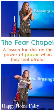 The Fear Chapel – Happy Home Fairy the-fear-chapel-a-lesson-for-kids-on-the-power-of-prayer-when-they-feel-afraid Kids Church Lessons, Bible Lessons For Kids, Primary Lessons, Youth Lessons, Kids Bible Stories, Fhe Lessons, Girls Bible, Sunday School Kids, Sunday School Activities