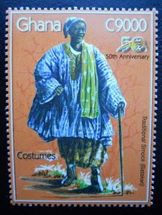 Stamps, covers and postcards of traditional/folk costumes: Stamps / Costumes - Ghana / Gana