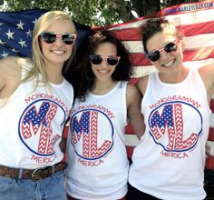 """Funny that """"ML"""" is my monogram... Marley Lilly Monogrammin' 'Merica Promo Tank 