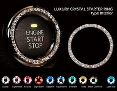Toyota/Lexus Starter Key Hole Ring - Clear Crystal VIP Bling