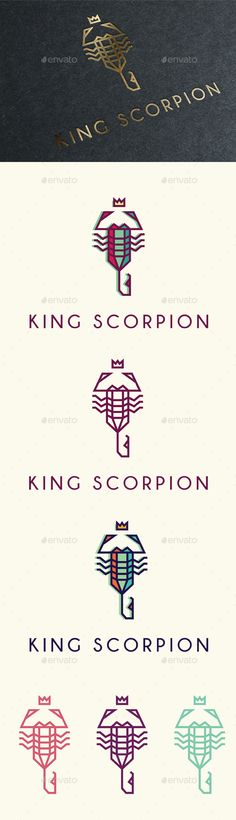 Buy King Scorpion by Cetaceans on GraphicRiver. King Scorpion Logo is a multipurpose logo. This logo that can be used by any creative business. Typography Letters, Typography Logo, Logo Branding, Creative Icon, Creative Business, Creative Design, Help Logo, Logo Luxury, Logo Shapes