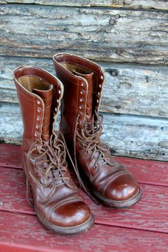 World War II Original Herman Contractor's Paratrooper Boots, Size 7.5