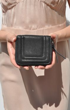 Yvonne Kone Small Wallet #black #blackleather #blackbag #blackleatherbag #blackhandbag #leatherbag #leatherhandbag #designerbag #bagart #chic #minimalist #simplebag #fashion2014 #wishlist