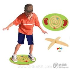 Outdoor toys, foot wooden bead balancing game -from greekk.com
