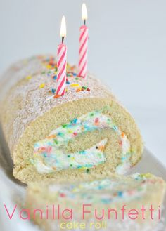 Vanilla Funfetti Cake Roll (not from cake mix) @Liting Mitchell Wang Sweets