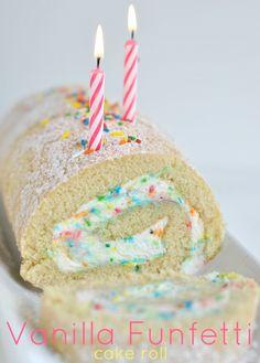 Vanilla Funfetti Cake Roll