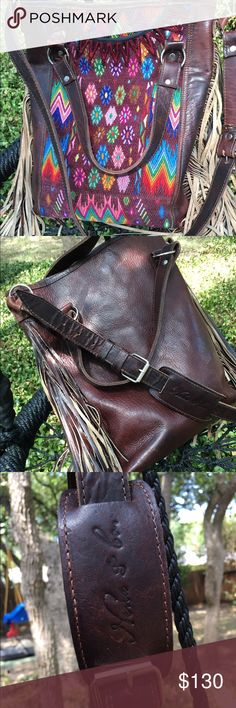Nena & Co Vintage Leather Fringe Tote This bag is fantastic! I have loved carrying this one of a kind handcrafted treasure and it is in gorgeous condition. Nena & Co Bags Crossbody Bags