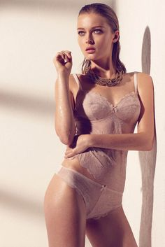 Model Olga Maliouk, photographer Max Abadian for Blush Lingerie, Spring 2013 collection