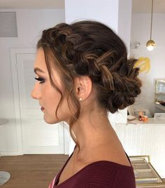 39 Elegant updo for the wedding party - hairstyle 39 Elegante Hochsteckfrisur für die Hochzeitsfeier – Frisuren 39 Elegant updo for the wedding party party - Bridal Hairstyles With Braids, Holiday Hairstyles, Ball Hairstyles, Updos With Braids, Braids Ideas, Famous Hairstyles, Braided Hairstyles Updo, Hairstyles For Dances, Braided Chignon