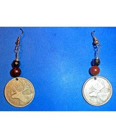 VINTAGE CANADA 1960'S 25 CENTS WITH RED JASPER AND HEMATITE http://www.thesoulshoppe.com/earrings/1337-vintage-canada-1960-s-25-cents-with-red-jasper-and-hematite.html