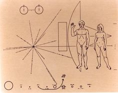 On April 5th, 1973 Pioneer 10 Launched from Cape Canaveral, It's carrying this plaque incase it encounters intelligent life