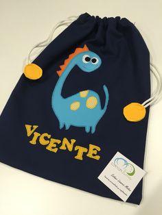 Bolsa de merienda personalizada #bolsa #bag #dinosaurio #personalizado #facebookcottonlima #cottonlima
