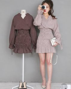 Curvy Girl Outfits, Kpop Fashion Outfits, Ulzzang Fashion, Dope Outfits, Korean Outfits, Classy Outfits, Cute Fashion, Fashion Dresses, Korean Fashion Trends