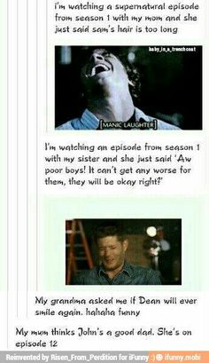 Oh you poor sweeties... no.<<I'm on episode 11 of season 1 and I feel bad for these people and what they will soon suffer.