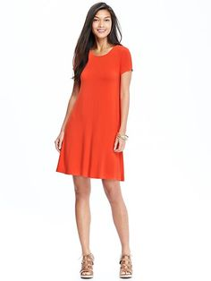 Women's Jersey Swing Dress
