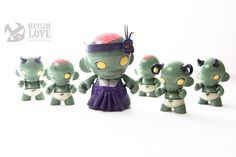 Very cute zombie family :D Zombie Demon Baby 1 by rucjrlove on Etsy, $45.00