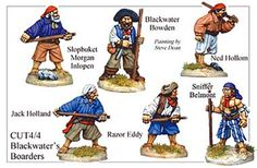 Pirates And Swashbucklers  - Black Waters Borders - CUT044