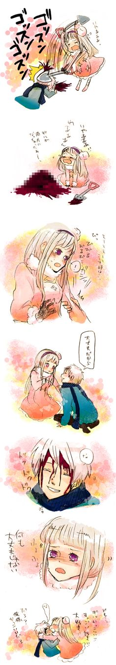 Prussia x Nyo!Russia <<idk how i feel about this