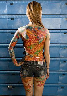 dragon and phoenix tattoo #dragon #phoenix