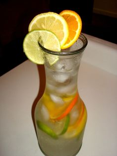 lime, lemon, and orange water.