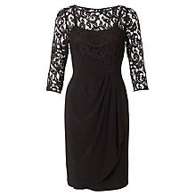 Buy Adrianna Papell Rose Flounce Lace Detail Dress, Black Online at johnlewis.com http://www.johnlewis.com/adrianna-papell-rose-flounce-lace-detail-dress-black/p1839380