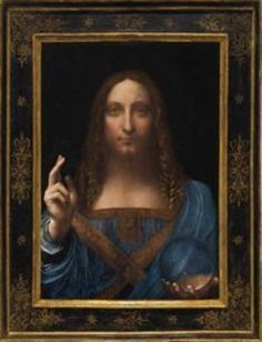 "The world's most expensive painting, a centuries old image of Jesus known as the ""Salvator Mundi"" attributed to legendary Italian artist Leonardo Da Vinci, has disappeared from sight in Abu Dhabi. Paintings Of Christ, Jesus Painting, Oil Paintings, Painting Clouds, Painting Frames, Painting Art, Leonardo Da Vinci Biography, Leonardo Paintings, Most Expensive Painting"