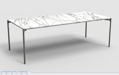 The Blade Table - Marble version by Alexander Purcell Rodrigues