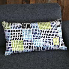 Mosaic Silk Pillow Cover via West Elm