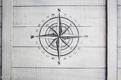 A compass decorates the top of the box via thinkingcloset.com