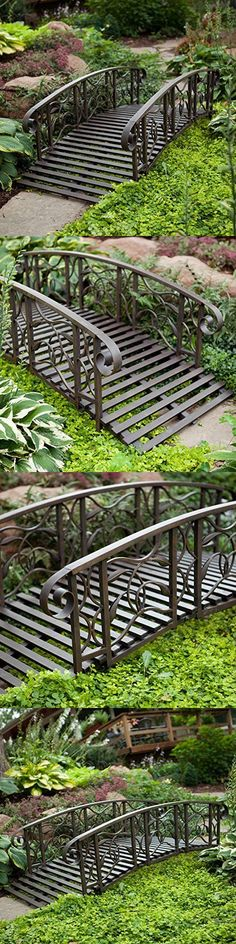 Bridges 115773: Garden Bridge Pathway Outdoor Backyard Rail Creek 4 Ft  Steel Decor Foot Ornate  U003e BUY IT NOW ONLY: $194.94 On EBay! | Pinterest |  Bridges