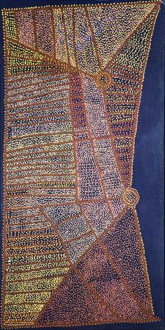 Shorty Robertson JANGALA_Rêve de l\'Eau_Art aborigene australien