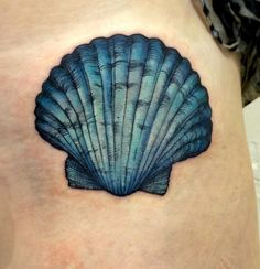 A special shell coverup tattoo for gorgeous mermaid Kris ☺️❤️…