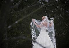 winter snow drop veil