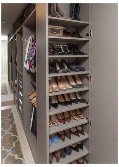 Wardrobe Design Bedroom, Diy Wardrobe, Master Bedroom Closet, Wardrobe Storage, Wardrobe Ideas, Master Suite, Shoe Storage Master Closet, Shoe Closet, Shoe Cubby