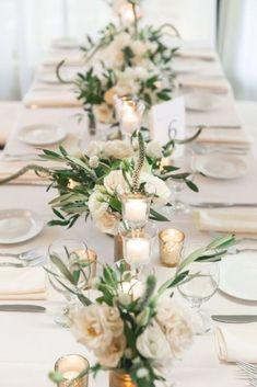 Neutral Wedding Decor, Neutral Wedding Flowers, Wedding Table Flowers, Wedding Table Settings, Flower Table Decorations, Birthday Table Decorations, Wedding Decorations, Wedding Ideas, Wedding Inspiration
