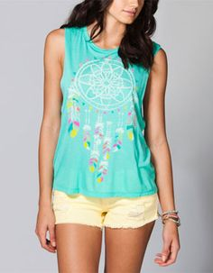 WORKSHOP Dream Catcher Womens Muscle Tee 215781523   Graphic Tees & Tanks   Tillys.com