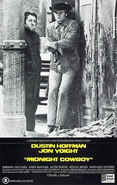 Cowboy de media noche.  Año: 1969.   3 Oscars: Mejor película, director, guión adaptado. 7 nominaciones  1969: Premios BAFTA: Mejor película  1969: Festival de Berlín: Premio OCIC  1969: Premios David di Donatello: Mejor director y actor extranjeros (Dustin Hoffman)