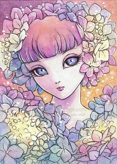 Hey, I found this really awesome Etsy listing at http://www.etsy.com/listing/155929858/open-edition-aceo-print-ajisai-hydrangea