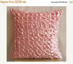 15% HOLIDAY SALE Handmade  Pink Pillow Cases by TheHomeCentric
