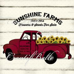 This is a digital download Sunflower Truck 0728 Digital download in 300dpi High Resolution JPG and PNG ready for A4 8 1/2 x 11 inch printing Watermark and wood background texture will be removed on your final product Files are instantly available to download once payment is confirmed and sent directly to your Etsy email address Use for: Cards,Tags,Iron on Transfer,Print to fabric,Decoupage,Scrapbooking,Sachets,Pillows and more Print on: Printer paper,Card stock,Cotton,Canvas,Furnitur...