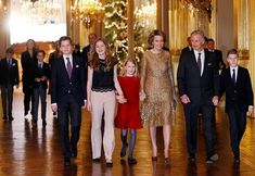The Belgian royal family attend the annual Christmas concert at the royal palace in Brussels. Dec. 20, 2017