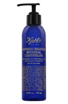 Introducing Midnight Recovery Botanical Cleansing Oil by Kiehl's – a facial cleanser enriched with pure botanical oils for fresh and clean skin. Skin Care Regimen, Skin Care Tips, Sensitive Skin Care, Cleansing Oil, Skin Cream, Skin Treatments, Organic Skin Care, Natural Skin, Healthy Skin