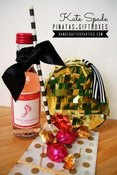 DIY Kate Spade inspired pinatas + gift box: glam mylar golden egg {Handcrafted Parties}