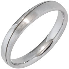 Schöner Silber-Partnerring: Partner-Ring aus Silber, teilmattiert