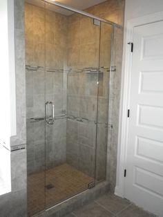 Custom Tile Shower With Framless Glass Door