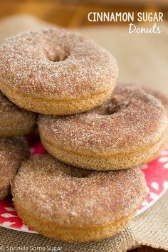 Cinnamon Sugar Donuts - Sprinkle Some Sugar